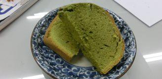 寺島屋弥兵衛のグリーンティーで抹茶ケーキ!