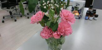 続:事務所のお花